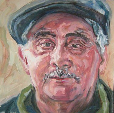 """Saatchi Online Artist Andrea Araneda; Painting, """"Benedicto Moil"""" #art"""