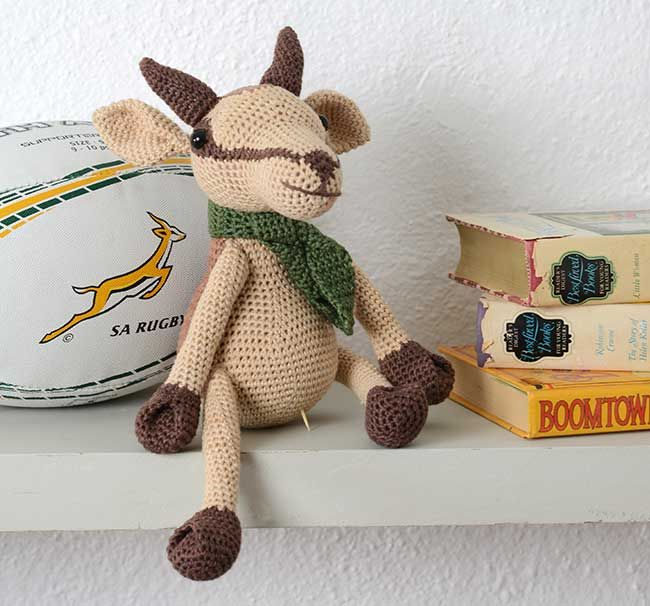 Crochet our specially designed South African Springbok toy! You can also turn this amigurumi springbok into a unicorn...
