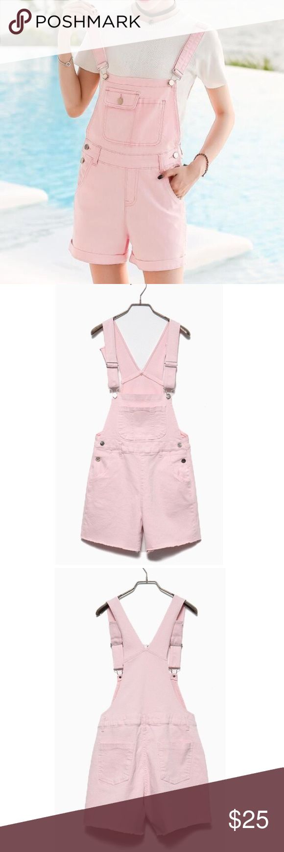 Cute baby pink denim overall suspender shorts! This cute denim overall suspender shorts. They fit like a dress, so if you're a small in a normal dress, this would be a small for you to buy, medium and large so on! So cute to layer with a cute oversized shirt underneath!  ✅FREE UNITED STATES SHIPPING✅ tags// tumblr grunge American apparel summer Spring winter pacsun American eagle urban outfitters tee shirt vintage modern cute relax Tommy Hilfiger tommy jeans tommy girl Tom adidas Kimifan…