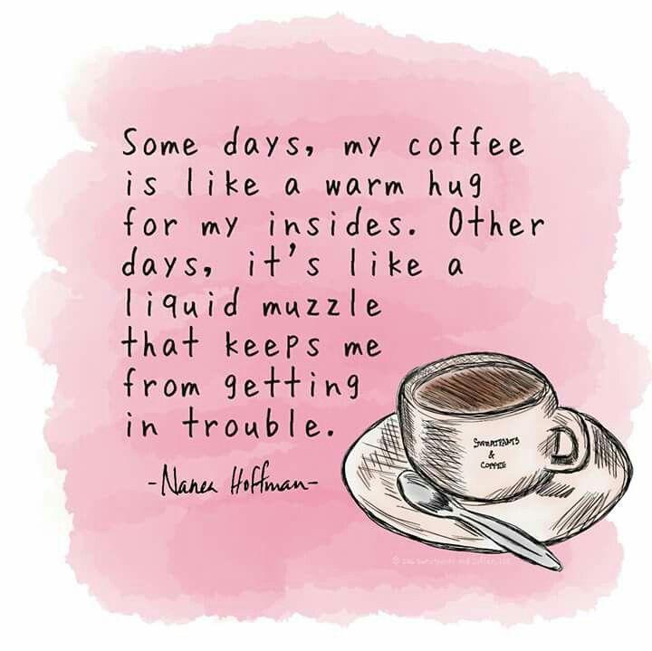 My coffee's purpose...