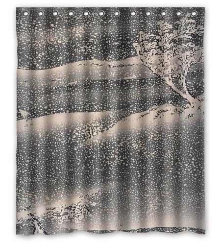 Снежный день японский стиль обычный душ занавески ванная декор дизайн 36 x 72  48 x 72  60 x 72  66 x 72