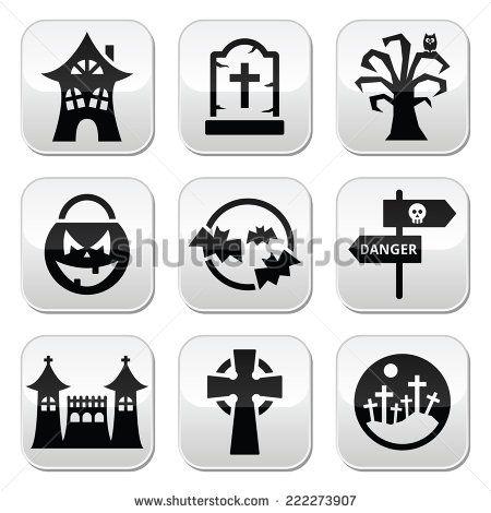 Halloween vector buttons set by RedKoala