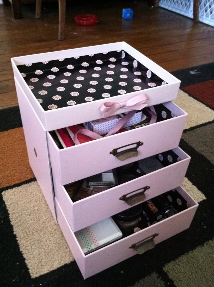 @glossybox boxes turned into #makeup stash. talking about great #recycling