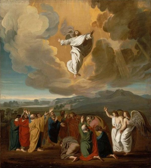 "We have been commissioned to be #missionarydisciples and deliver the Good News to every creature. #AscensionThursday  ""Jesus' Ascension to Heaven"" by John Singleton Copley, 1775"