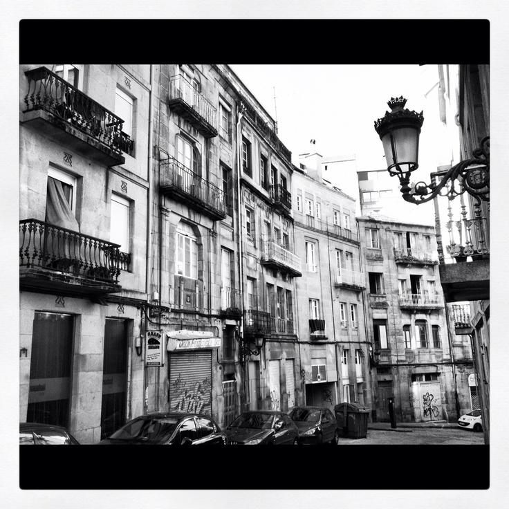 Old streets of Vigo. The taste of a fishermen city.