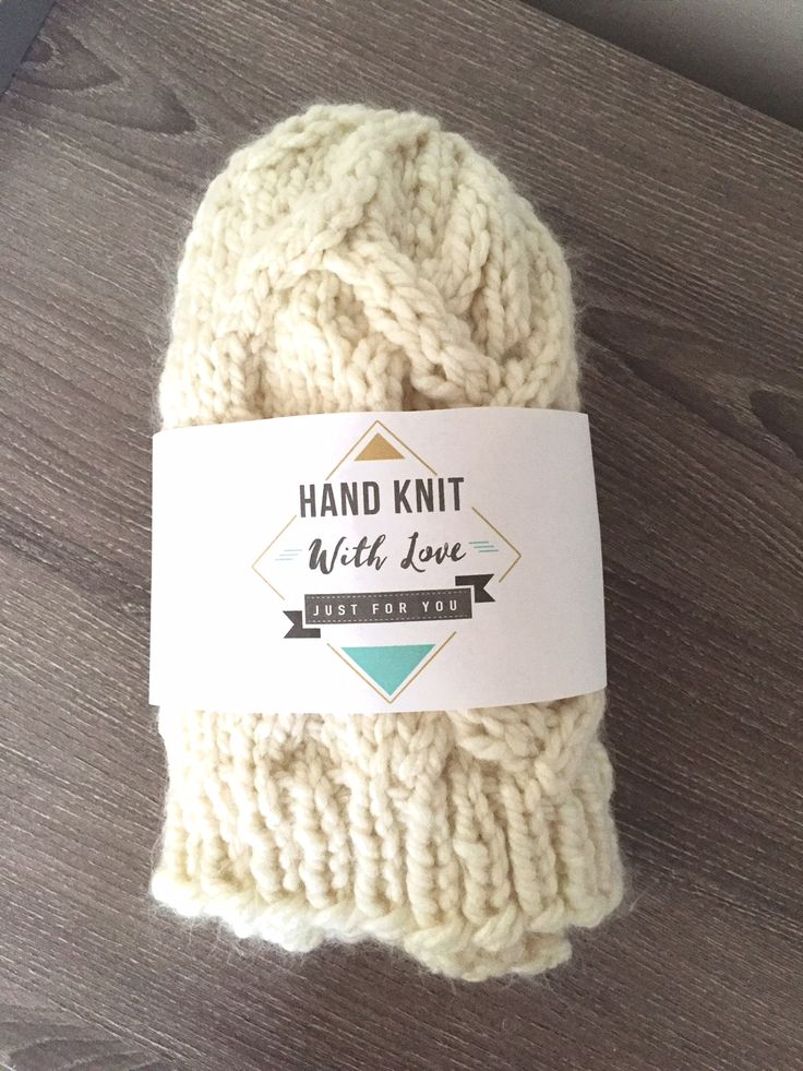 Free Printable Hand Knit with Love and Hand Crochet With Love Labels