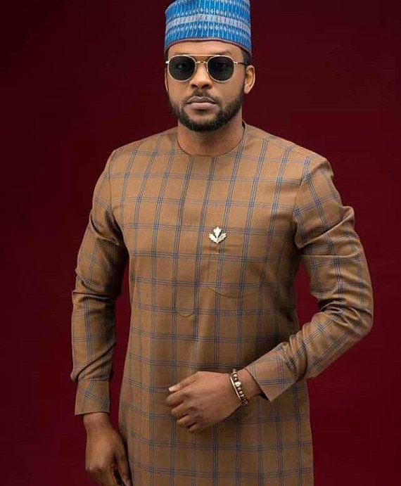 b14b9b9221832c African Mens clothing Ankara mens clothing South South African  Kaftan Nigerian Senator top and botto