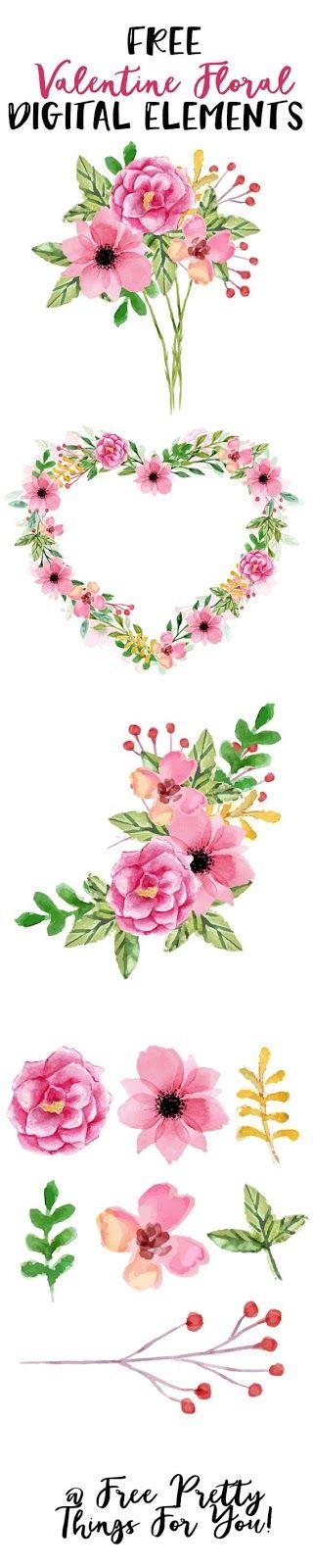 Free Valentine Floral clip art