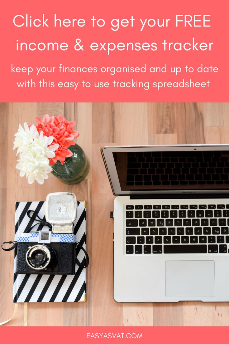 Free small business income and expenses excel spreadsheet tracker to make your self-employed tax return easier - monthly and yearly | Easy As VAT | bookkeeping, accountancy and admin tips and articles for freelancers, bloggers and entrepreneurs.