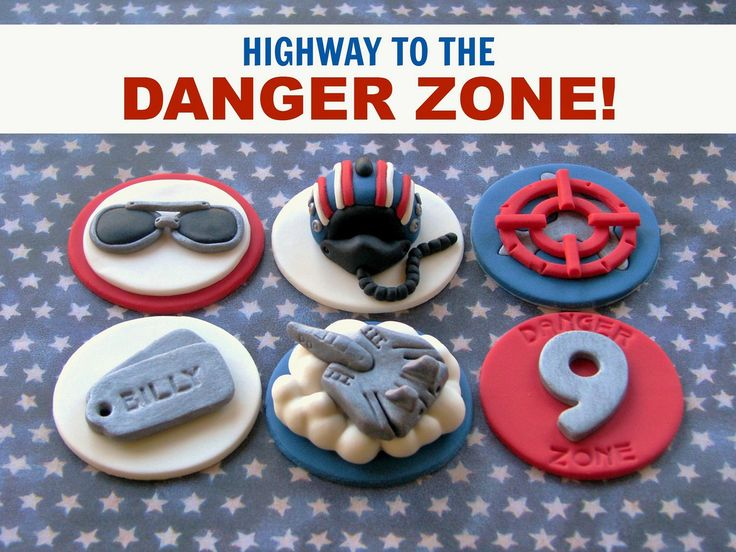 Top Gun Cupcake Toppers | Flickr - Photo Sharing!