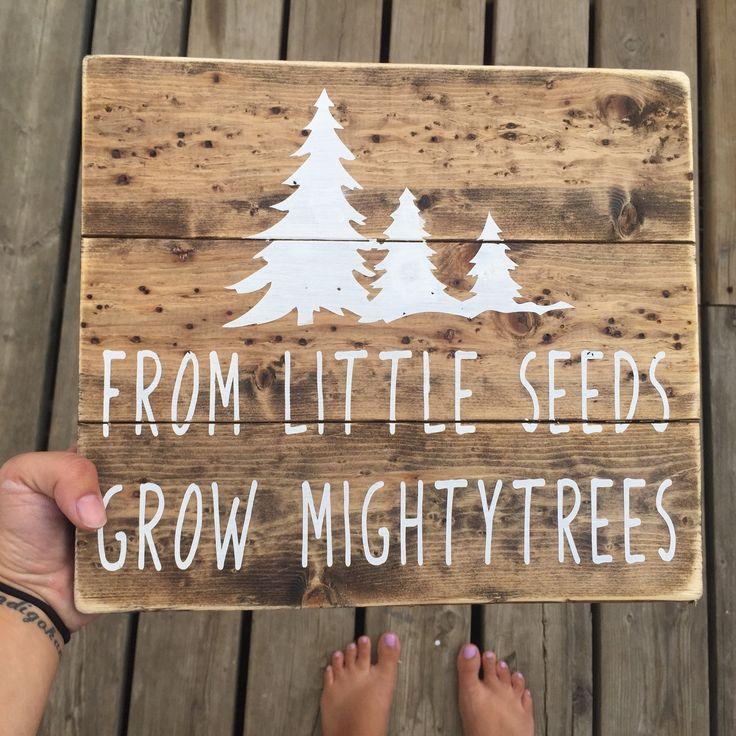 Little Seeds Sign Nursery Sign Rustic Nursery Handmade