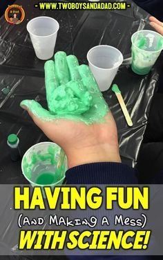 At a science assembly sponsored by science and engineering students from a local university, my third grade students learned about chemical reactions with this fun (and messy) activity that produces polymer. Polymer makes those super bouncy balls! You c