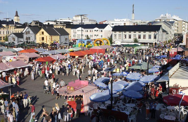 Market Square, Oulu. Finland