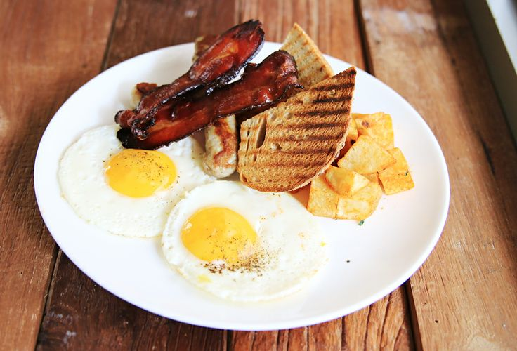 Two eggs Breakfast with Sausage  Bacon