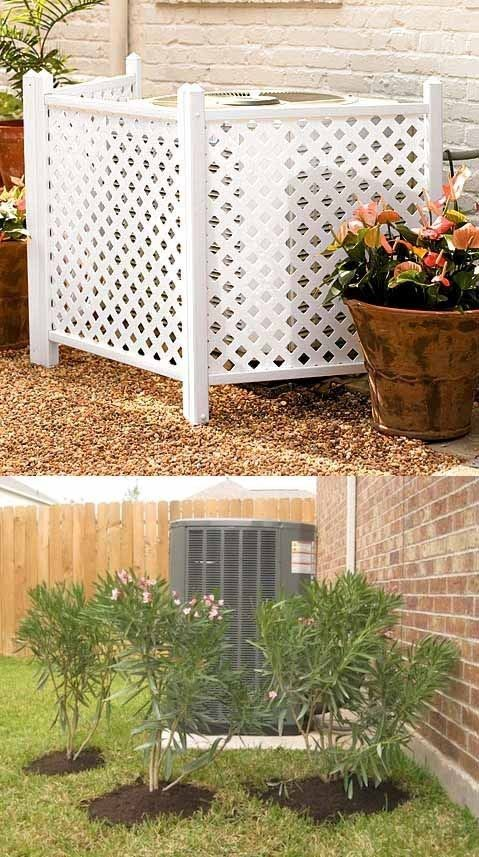 And hide your AC unit. | 39 Budget Curb Appeal Ideas That Will Totally Change Your Home