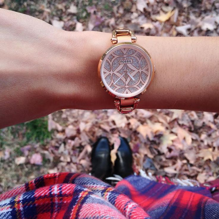 Rose Gold Fossil Watch - Stylishlyme