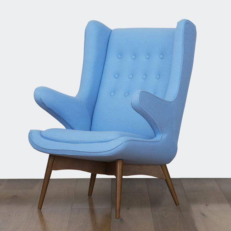 Ginger Vintage Lounge Chair & Stool - Blue | $599.00