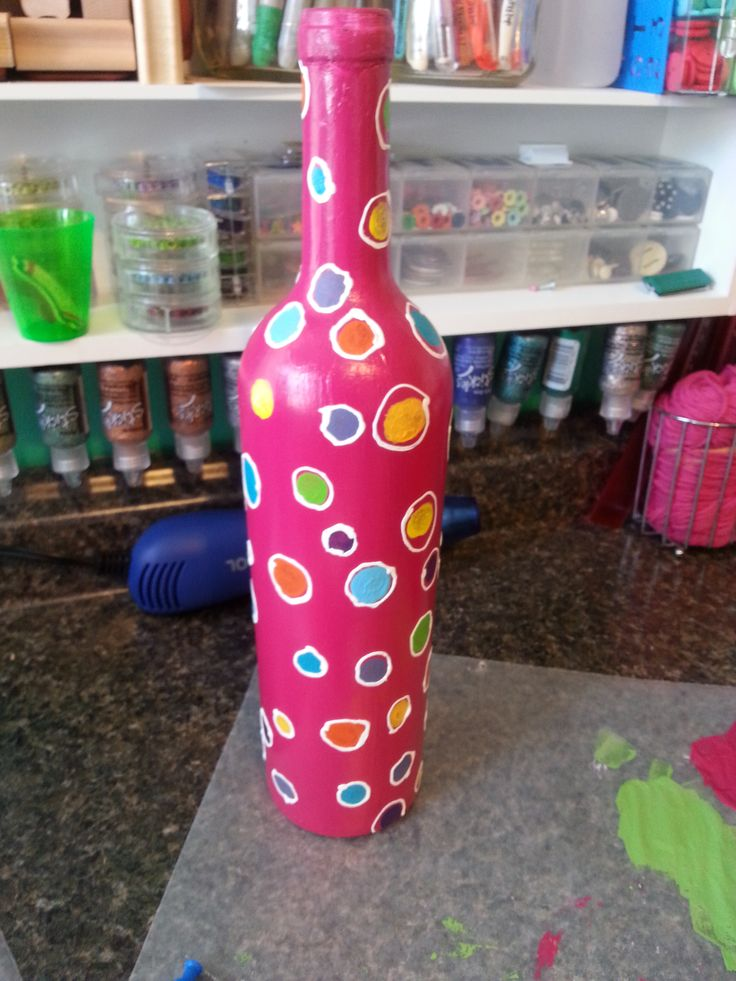 35 best painted wine bottles images on pinterest paint for What kind of paint to use for wine bottles