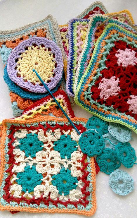 crochet hotpads in progress