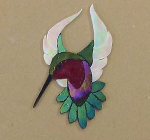 PRECUT STAINED GLASS ART MALE HUMMINGBIRD KIT MOSAIC INLAY CRAFT HANDCRAFTED