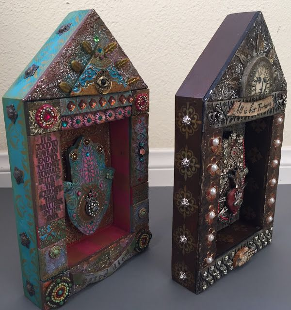 StencilGirl Talk: Laurie Mika: Hamsa House Shrines