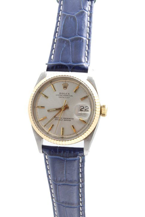 Vintage stainless steel and yellow gold gents Rolex Oyster Perpetual Datejust wristwatch   http://www.liveauctioneers.com/item/25627360_vintage-stainless-steel-and-gold-rolex-datejust-watch