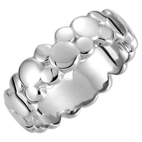#Mickey Mouse Icon Silver Ring--love the cool, understated design!