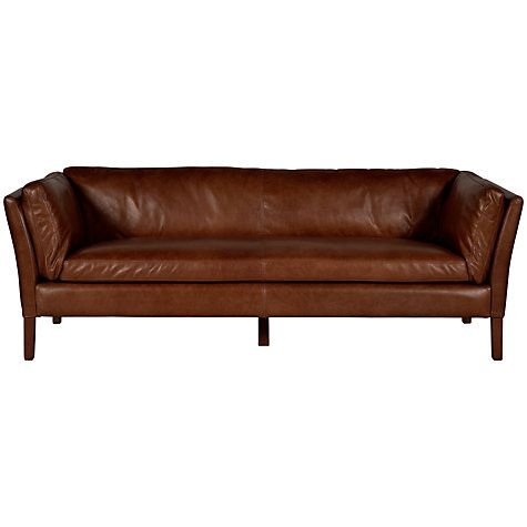 Buy Halo Groucho Large Leather Sofa Online at johnlewis.com