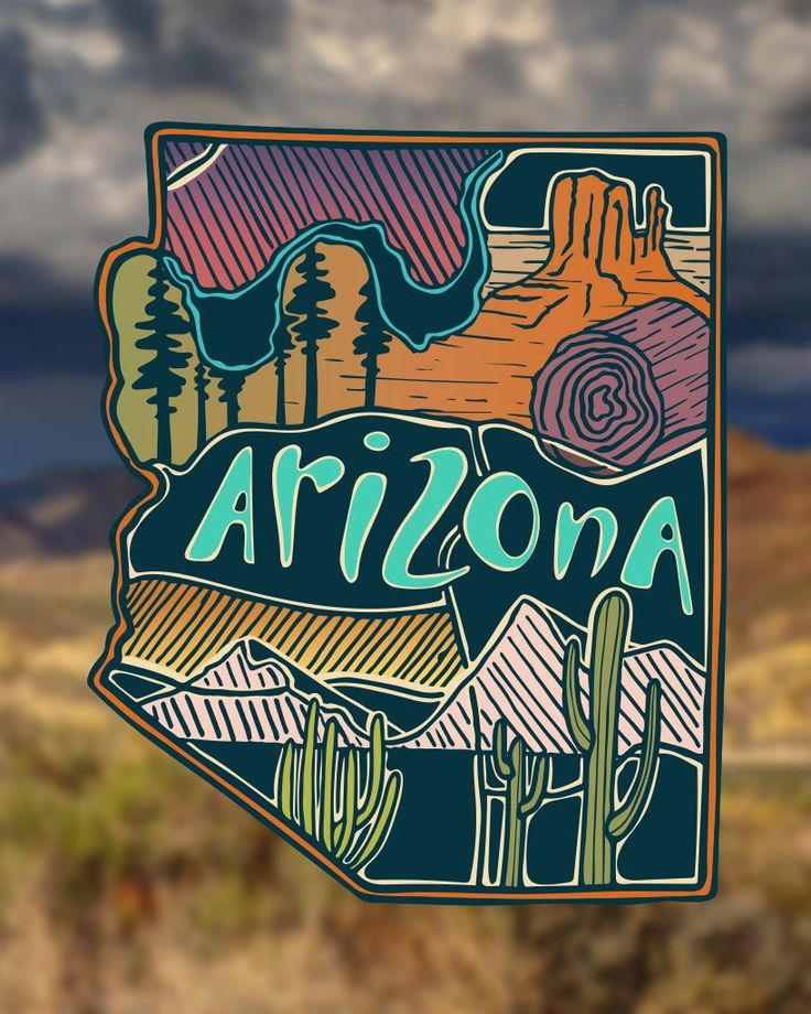 Story This fan favorite sticker showcases the vast beauty of Arizona. These stickers are easy to apply and nearly impossible to destroy. Dishwasher safe and can withstand any terrain or weather you th