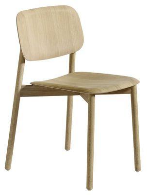 Chaise Soft Edge / Structure bois Chêne naturel - Hay - Décoration et mobilier design avec Made in Design