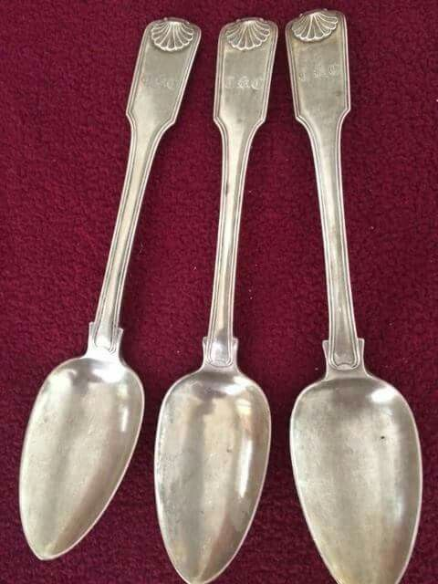 3 serving spoons engraved with my Great -Great Grand Uncle's initials TKC...TAN KIM CHING. All that's left after looting during the Japanese Occupation of Singapore.