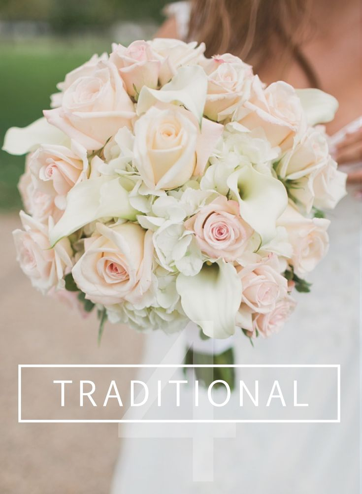 DIY Traditional Wedding Bouquet // Roses, Calla Lilies & Hydrangeas