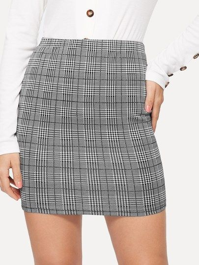 5a023dff314f Plaid Bodycon Skirt in 2019 | Various BOTTOMS|Skirts|Shorts|Pants ...
