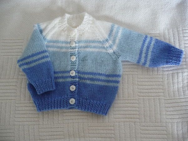 Yet another striped baby cardigan