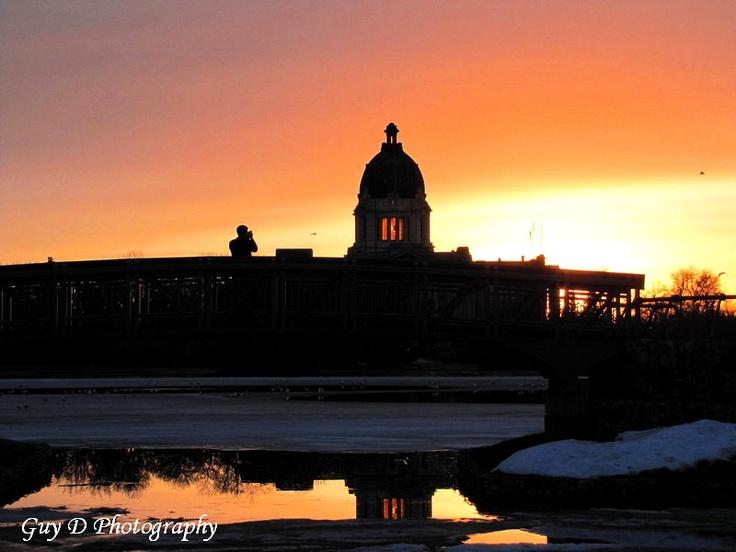 Regina What a beautiful sunset over Wascana.