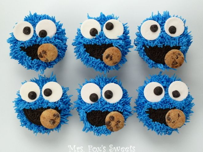 Ms. Fox's Sweets: Cookie Monster Cupcakes
