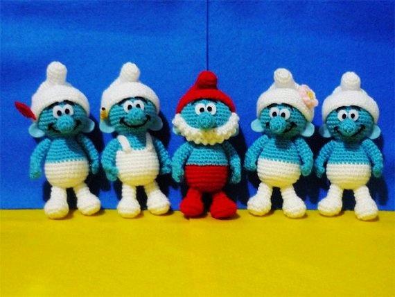 Free Amigurumi Disney Patterns : 30 best smurfen images on pinterest crochet toys crochet ideas