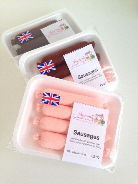 Pretend Play Felt Food Sausages by mummymadeitme on Etsy