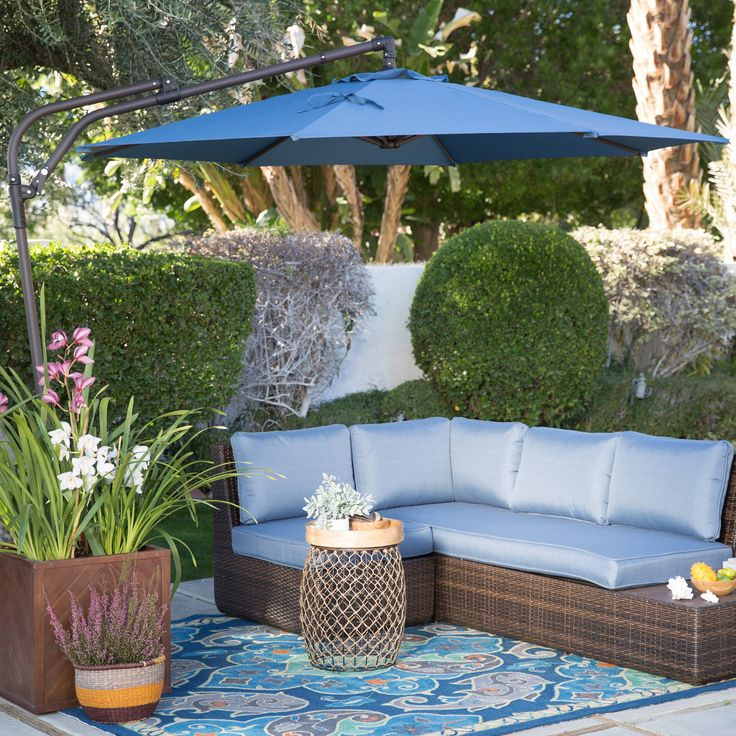 Coral Coast 9 Ft. Steel Offset Patio Umbrella   Soak Up The Perfect Amount  Of