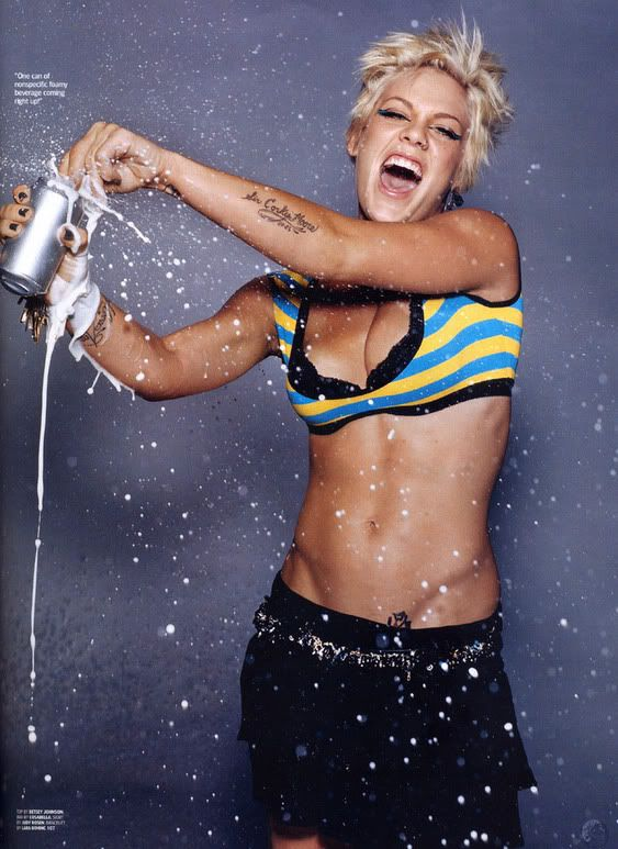"""P!nk...love.  Strength, power, determination and a little bit of """"fuck you"""""""