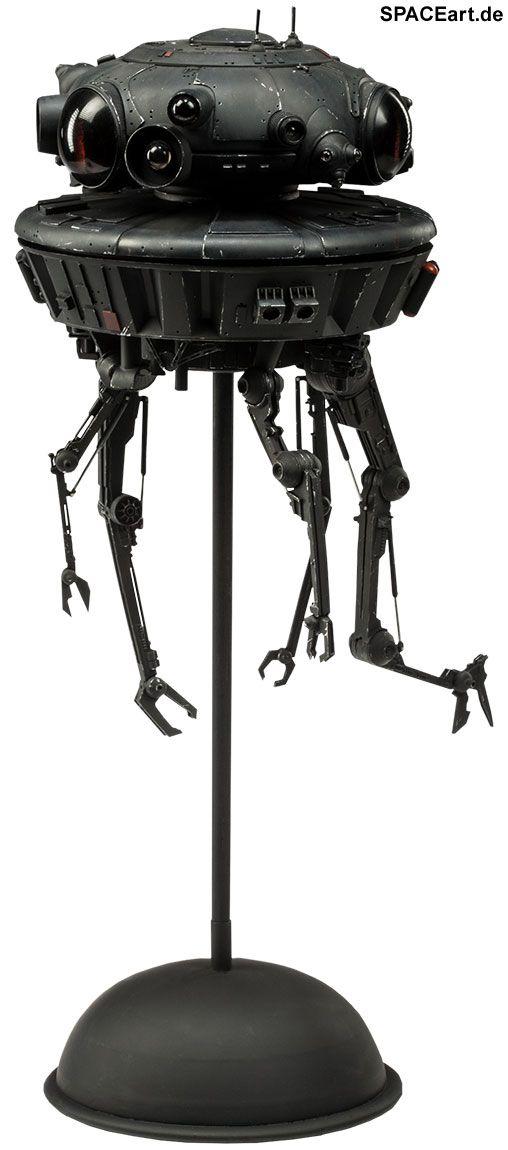 Star Wars: Imperial Probe Droid | Typ: Deluxe-Figur (voll beweglich) | Hersteller: Sideshow | https://spaceart.de/produkte/sw016.php