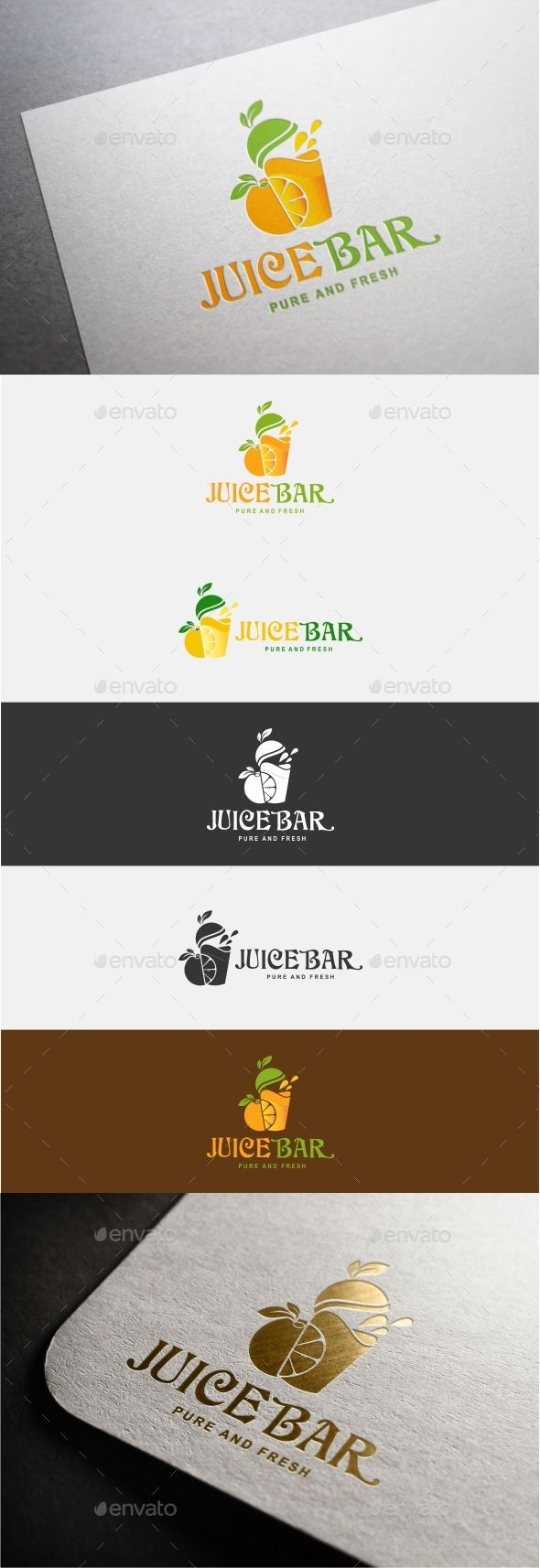 Juice Bar Logo — Vector EPS #colors #ecology • Available here → https://graphicriver.net/item/juice-bar-logo/19196677?ref=pxcr