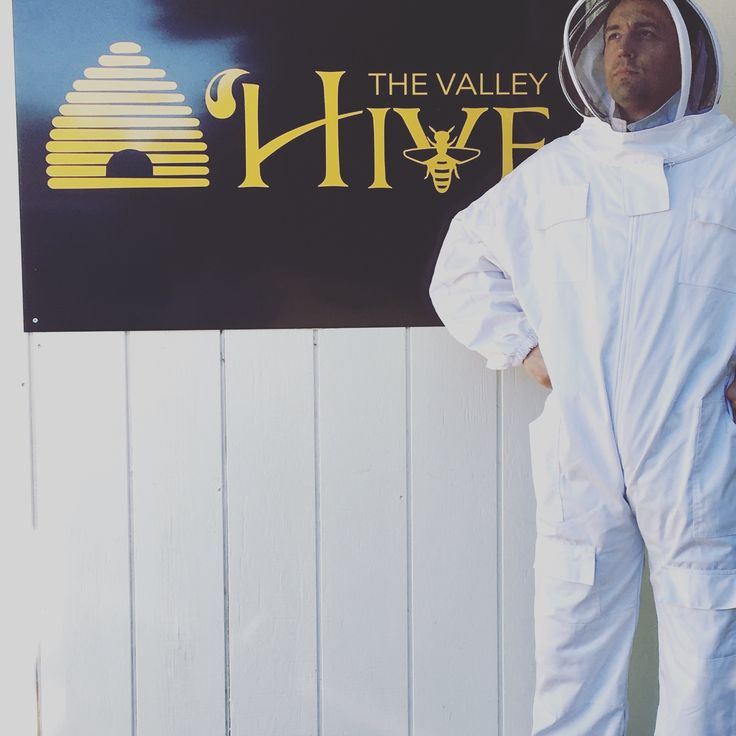 Me decked out in beekeeping gear at The Valley Hive in Chatsworth, CA
