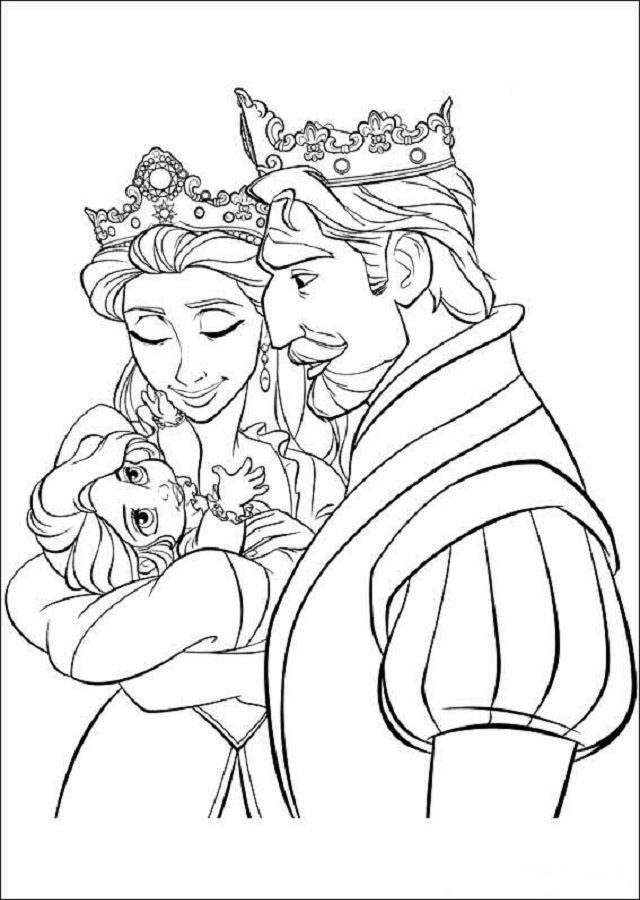 Rapunzel Cuando Era Pequena En Brazos De Sus Padres Los Reyes Paginas Para Colorear Disney Rapunzel Dibujo Dibujos Para Colorear Adultos