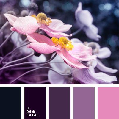 combinación de colores, combinación de colores en interiores, elección del color, paleta de colores monocromática, paleta del color malva monocromática, paleta del color violeta monocromática, rosado y malva, tonos malva, tonos violetas.
