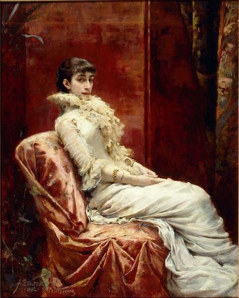 Varvara Miatleva by Albert Edelfelt