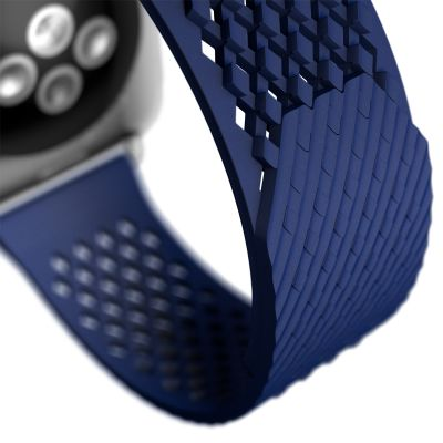 Here's a project worthy of inclusion in a textbook on industrial design. Benjamin Hubert's Layer studio has taken a well-established object, the watch band, and redesigned it with less parts by exploiting the properties of their chosen material. The LABB (Loopless and Buckleless Band) has had repeating positive and negative