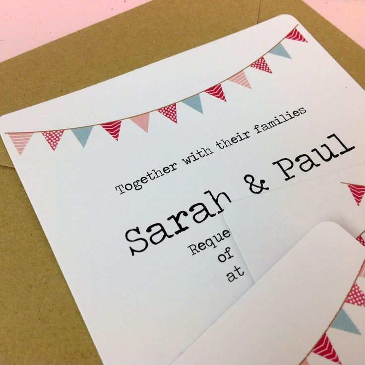 wedding stickers for invitations%0A     x     Flat invitation only        Vintage Bunting Design Wedding Invitation