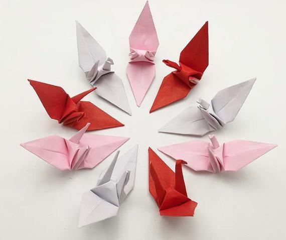Japanese Origami Crane Strap Pink