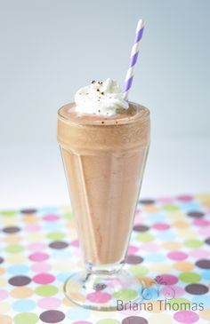 This healthy mockup of the Arby's Jamocha Shake is THM:S, low carb, and sugar free!